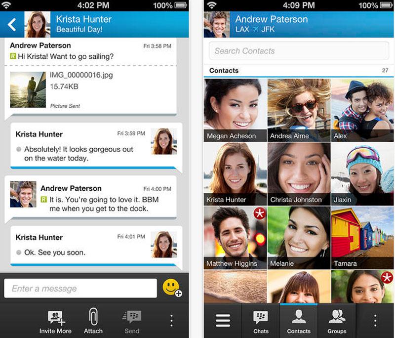 BBM app for iOS