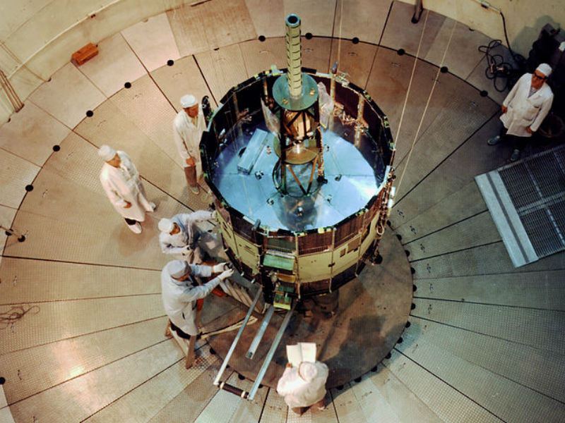 ISEE-3 undergoing testing in 1976