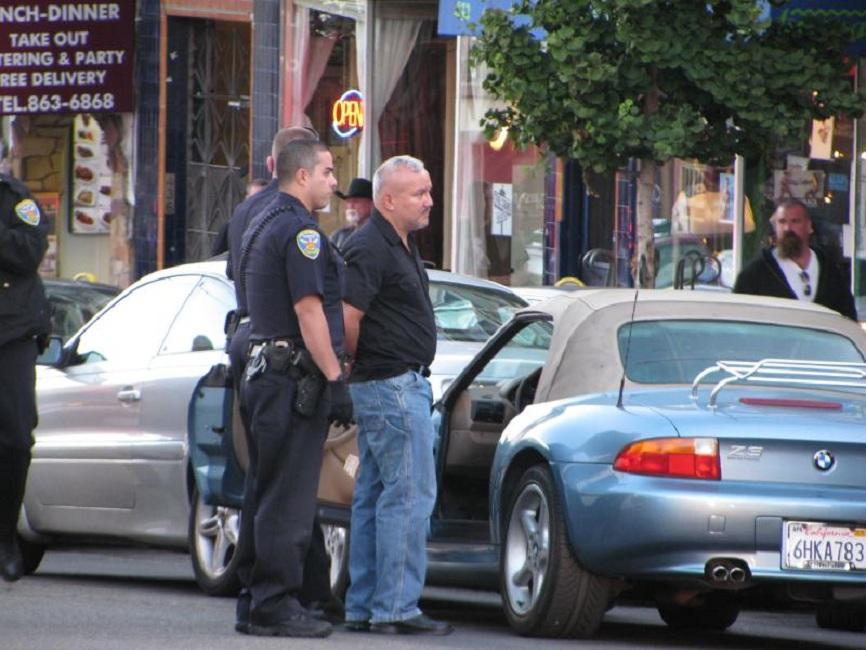 Cops arrested a DUI driver