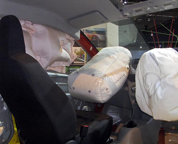 Image showing proper airbag deployment