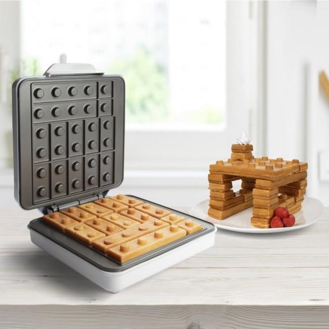 Edible Lego House: Kickstarter Startup Makes Waffle Iron That Shapes Breakfast to Lego Pieces!