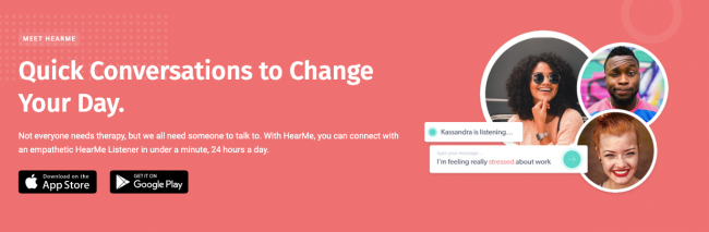 New App HearMe Helps Provide Emotional Support During Coronavirus Pandemic and Isolation